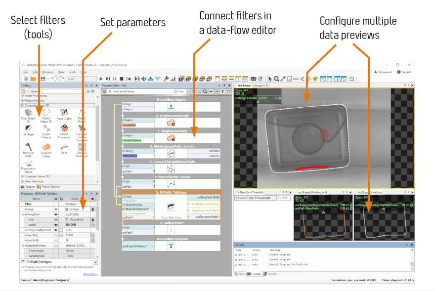adaptive-vision-studio-interfejs